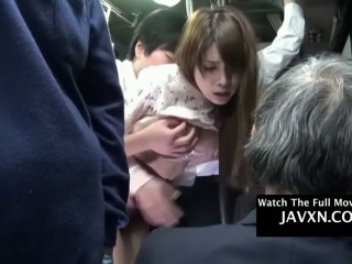 Japanese Teen Gets Fucked On The Public Bus