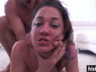 Brunette sweetie loves his long dick